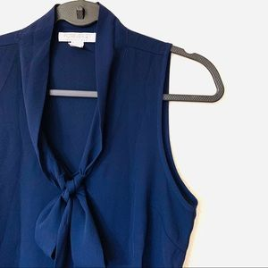 Forever21 Sleeveless Navy Blue Blouse